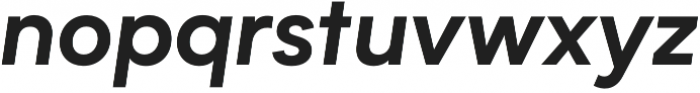 Biotif Bold Italic otf (700) Font LOWERCASE
