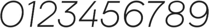 Biotif Light Italic otf (300) Font OTHER CHARS