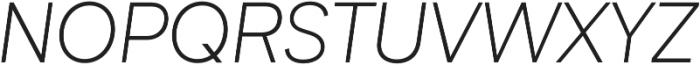 Biotif Light Italic otf (300) Font UPPERCASE