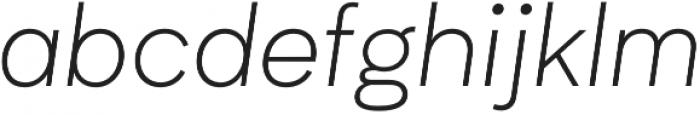 Biotif Light Italic otf (300) Font LOWERCASE