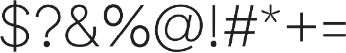 Biotif Light otf (300) Font OTHER CHARS