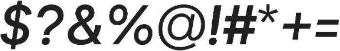 Biotif Medium Italic otf (500) Font OTHER CHARS