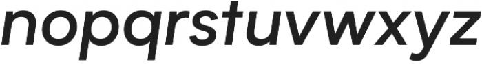 Biotif Medium Italic otf (500) Font LOWERCASE