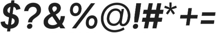 Biotif Semi Bold Italic otf (600) Font OTHER CHARS