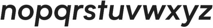 Biotif Semi Bold Italic otf (600) Font LOWERCASE