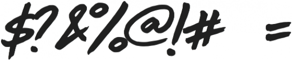 Birada! otf (400) Font OTHER CHARS
