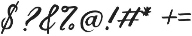 Birds of Paradise Italic otf (400) Font OTHER CHARS