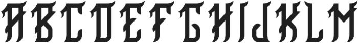 Birmingham Regular otf (400) Font UPPERCASE