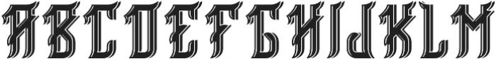 Birmingham ShadowAndLight otf (300) Font UPPERCASE