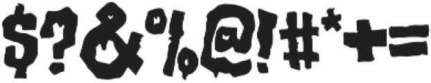 Birthday Massacre Fill otf (400) Font OTHER CHARS