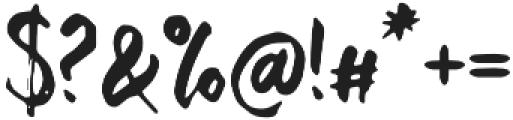 Bishella Dua Regular otf (400) Font OTHER CHARS
