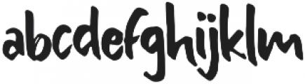 Bishella Dua Regular otf (400) Font LOWERCASE