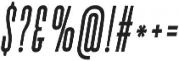Bismark Italic otf (400) Font OTHER CHARS