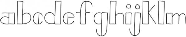 Bistro Sans otf (400) Font LOWERCASE