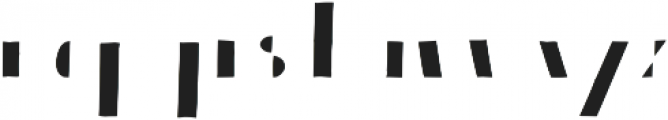 Bistro Serif otf (400) Font LOWERCASE