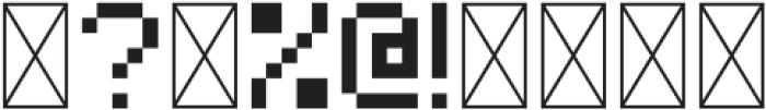 Bitless Fill Regular otf (400) Font OTHER CHARS