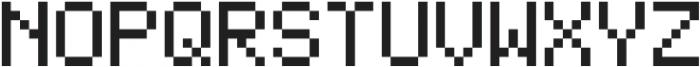 Bitless Fill Regular otf (400) Font UPPERCASE