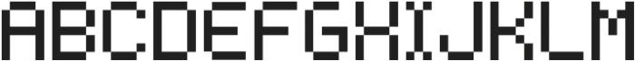 Bitless Fill Regular otf (400) Font LOWERCASE
