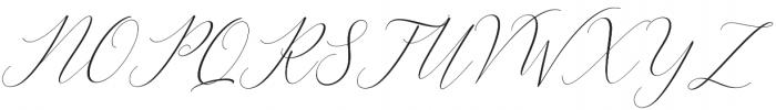 Bitthai Slant Italic otf (400) Font UPPERCASE