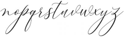 Bitthai Slant Italic otf (400) Font LOWERCASE