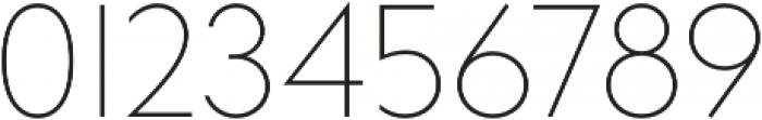 bill corporate narrow ultralight otf (300) Font OTHER CHARS