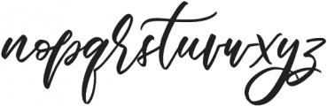 biolatesha 1 otf (400) Font LOWERCASE