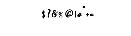 Bianglala Bold.otf Font OTHER CHARS