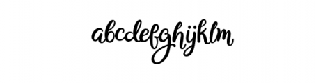 Bianglala Bold.otf Font LOWERCASE