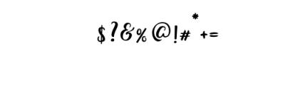 Bianglala Regular.otf Font OTHER CHARS