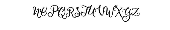 Bianglala Regular.otf Font UPPERCASE
