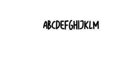 Bigsta.ttf Font UPPERCASE
