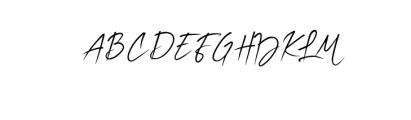 Billabong Beach Script.ttf Font UPPERCASE