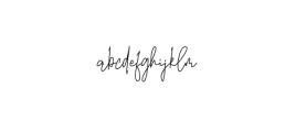 Billstone Font LOWERCASE