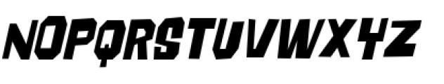 Big Chump BTN Condensed Oblique Font UPPERCASE