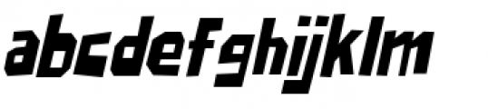 Big Chump BTN Condensed Oblique Font LOWERCASE