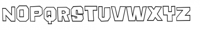 Big Chump BTN Outline Font UPPERCASE