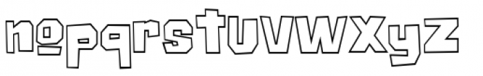 Big Chump BTN Outline Font LOWERCASE
