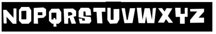 Big Chump BTN Reversed Font UPPERCASE
