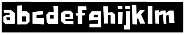 Big Chump BTN Reversed Font LOWERCASE