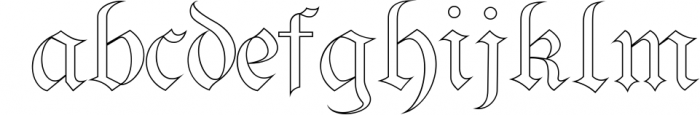 Bielefeld Typeface font 1 Font LOWERCASE