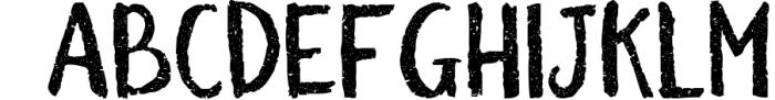 BiteChalk Typeface + extras 2 Font UPPERCASE
