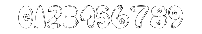 BIG BREAST FONT Font OTHER CHARS