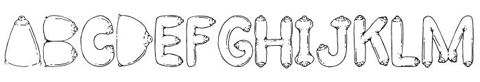BIG BREAST FONT Font UPPERCASE