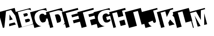 BIGARIALLEFT Font UPPERCASE