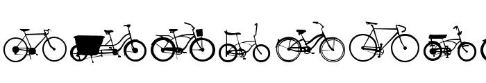 BIKES Font LOWERCASE