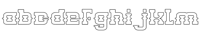 BILLY THE KID-Hollow Font LOWERCASE