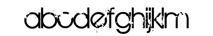 BIRTH OF A HERO Font LOWERCASE