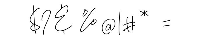 Bianka Script Font OTHER CHARS