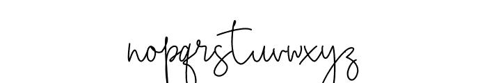 Bianka Script Font LOWERCASE
