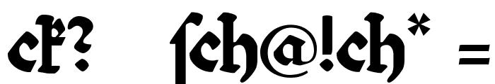 Bibelschrift Font OTHER CHARS